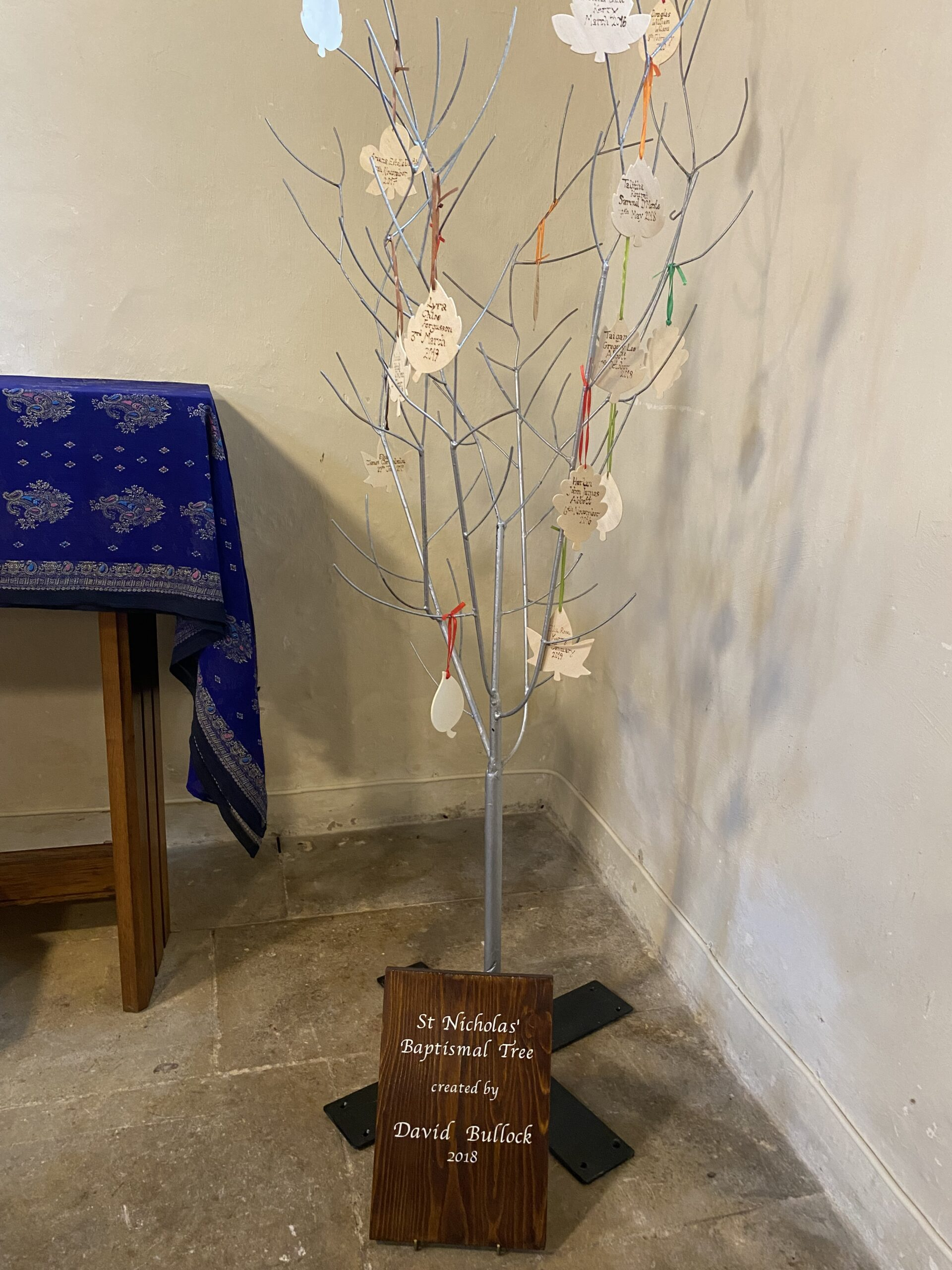 Baptismal Tree at St Nicholas Church